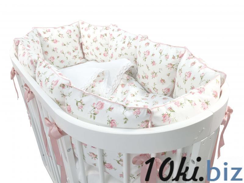 Комплект белья для овальной кроватки Marele Розы 15 пр. 460011-10
