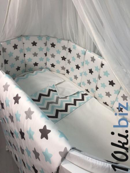 Комплект для овальной кроватки Marele Голубые звезды 11 пр. 460066