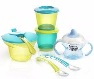 Фото Товары для кормления, Наборы посуды Набор для введения первого прикорма для мальчиков (.) Tommee tippee