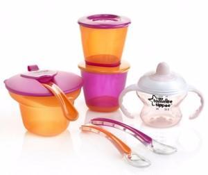 Фото Товары для кормления, Наборы посуды Набор для введения первого прикорма для девочек (.) Tommee tippee