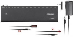 Фото Спліттери Monoprice Blackbird 4K HDMI 1x8 спліттер-подовжувач на 50 м Cat5e/6 з ІЧ, Loop Out, EDID, POC