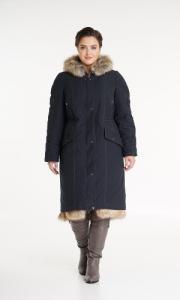 Фото  Пальто с мехом женское