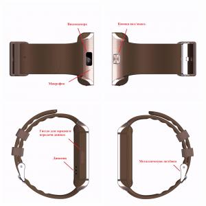 Фото Умные смарт часы и фитнес браслеты Elough DZ09 Smart Watch Bluetooth Смарт часы Поддержка Sim карта TF карта Видеокамера противоударные влагозащищенные ЖК-экран 1.56