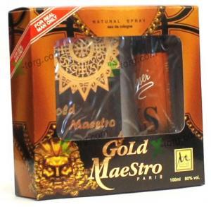 Набор подарочный M Parfum «GOLD MAESTRO» (мужской, одеколон+дезодорант-спрей, Украина)