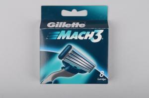 Картридж «Gillette» (для бритвы, мужской, Mach 3, 8 шт/ в упаковке, Китай)