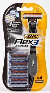 Станок для бритья «BIC» (серия Fllex 3 easy, 4 сменных лезвия, Греция)