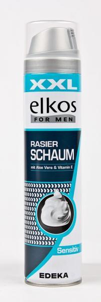 Фото Гели, пены для бритья, средства по уходу за телом., Средства для бритья Пена для бритья «Elkos» (серия Sensitive, 300 мл, Германия)