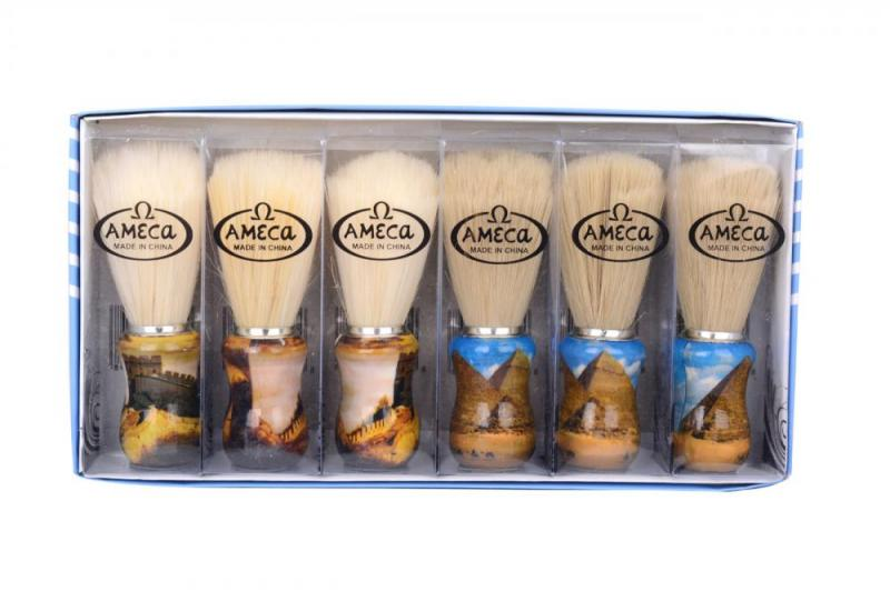Фото Помазки и аксессуары, Помазки, Помазки для бритья Помазок AMEGA (упаковка: 6 шт)