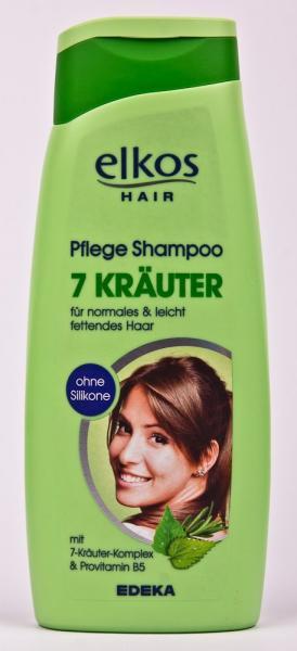 Фото Гели, пены для бритья, средства по уходу за телом., Уход за волосами Шампунь для волос ( 7 трав, 500 мл, Германия) Elkos