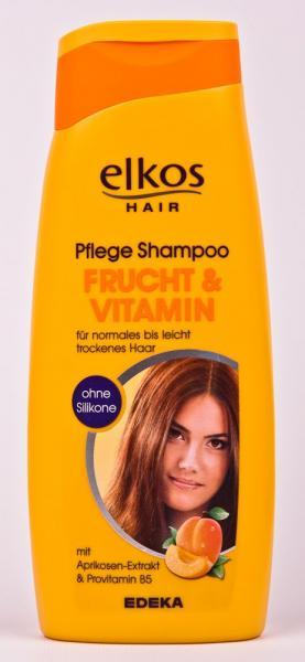 Фото Гели, пены для бритья, средства по уходу за телом., Уход за волосами Шампунь (фрукты и витамины, 500 мл, Германия) Elkos