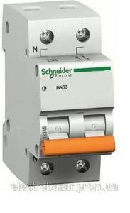 Автоматический выключатель ВА63 один полюс+ нейтраль 40А