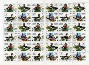 Фото Почтовые марки Украины, Почтовые марки Украины 1998 год 1998 № 222- 225 лист почтовых марок Казарка