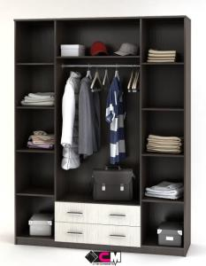 Фото Розница, Шкафы Шкаф 4-х дверный с выдвижными ящиками и зеркалами