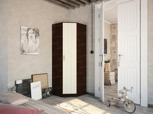 Фото Розница, Шкафы Шкаф угловой с одной дверью темный