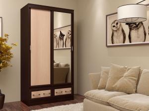 Фото Розница, Шкафы Шкаф-купе двух-створчатый с зеркалом 1,2м