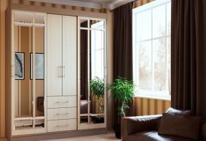Фото Розница, Шкафы Шкаф-купе двух-створчатый с зеркалами 1,7м