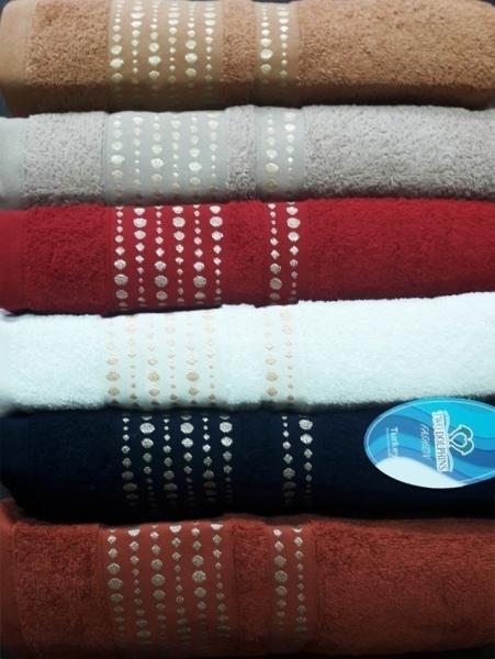Фото ПОЛОТЕНЦА, Полотенца банные 70х140см (упаковка 6шт.) Полотенце махровое  E676 Nile