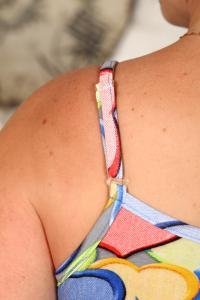 Фото женская домашняя одежда Сорочка ночная с регуляторами не бретелях