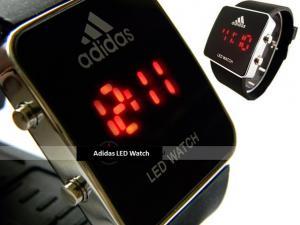 Фото  Наручные часы Led Watch Adidas черные