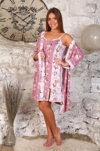 Фото женская домашняя одежда Пеньюар + сорочка