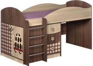 Кровать с выкатным столом Алиса (Премиум)