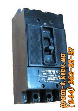 Фото Автоматические аппараты для защиты от перегрузок и короткого замыкания электрической цепи, Автоматический выключатель серии А Автомат А 3114