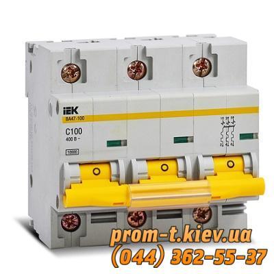 Фото Автоматические аппараты для защиты от перегрузок и короткого замыкания электрической цепи, Автоматический выключатель серии ВА Автомат ВА 47-100