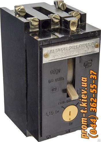 Фото Автоматические аппараты для защиты от перегрузок и короткого замыкания электрической цепи, Автоматический выключатель серии АЕ Автомат АЕ-2026