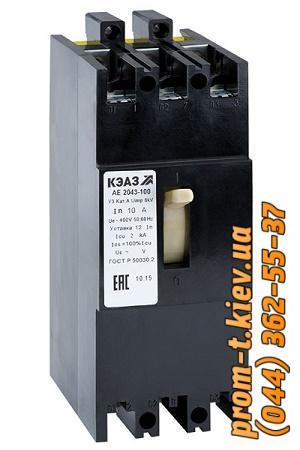 Фото Автоматические аппараты для защиты от перегрузок и короткого замыкания электрической цепи, Автоматический выключатель серии АЕ Автомат АЕ-2043