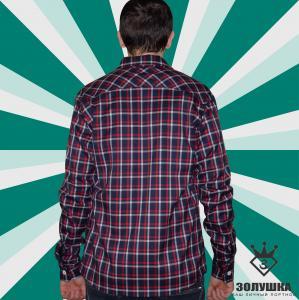 Фото Мужская одежда Рубашка Grunge (синий/красный)