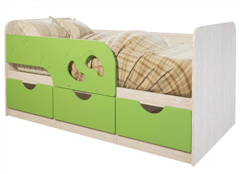 Фото Детская мебель Кровать Минима Лего 1,6м (БТС)