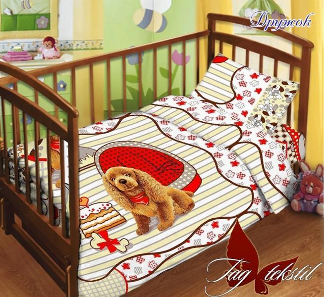 Фото ДЕТСКИЙ ТЕКСТИЛЬ, Постельное детское в кроватку Детский комплект Дружок