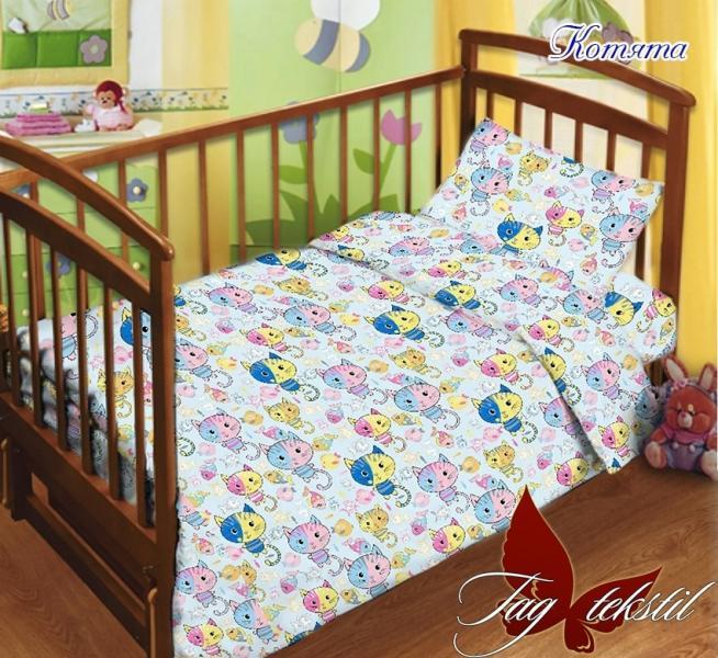 Фото ДЕТСКИЙ ТЕКСТИЛЬ, Постельное детское в кроватку Детский комплект Котята