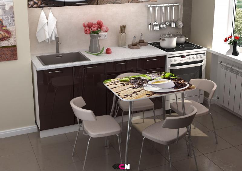 Фото Обеденные столы Стол с фотопечатью Кофе (Стендмебель)
