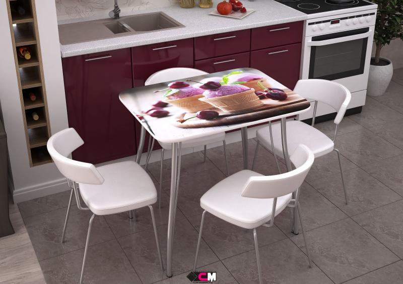 Фото Обеденные столы Стол с фотопечатью Десерт (Стендмебель)