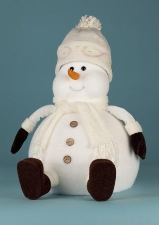Снеговик под елку своими руками поделка 178