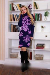 Фото Платья Теплое платье вязка с узором