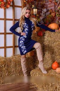 Фото Платья Теплое платье с этническим рисунком