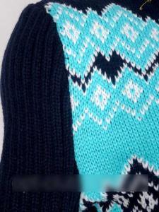 Фото Платья Вязаное платье с зимним узором