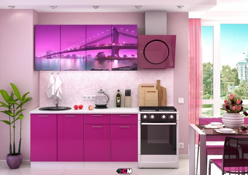 Фото Кухни готовые Кухня Город 1,6м (1,8м, 2,0м) - (Стендмебель)