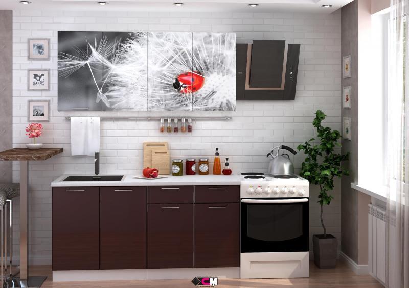 Фото Кухни готовые Кухня Одуванчик 1,6м (1,8м, 2,0м) - (Стендмебель)