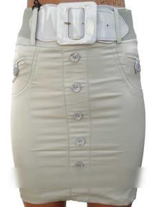 Фото Юбки, шорты Светлая юбка с ремнем (38-44)