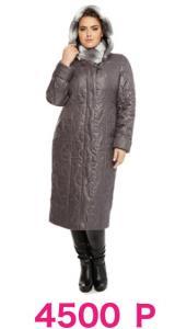 Фото  Пальто утепленное, полуприлегающего силуэта с отстегивающимся капюшоном