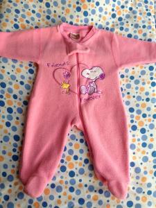 Фото Одежда для девочек, Размер 62 человечик теплый флисовый