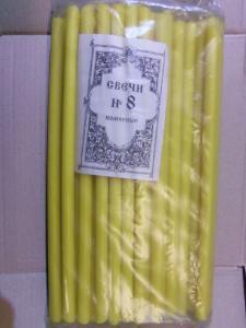 Свечи церковные № 8 (40 шт.), 2 кг.