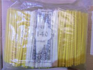 Свечи церковные № 140 (700 шт.), 2 кг.