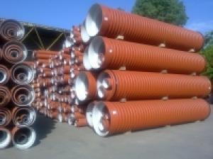 Фото Трубы гофрированные для наружной канализации Труба гофрированная 250х6000мм