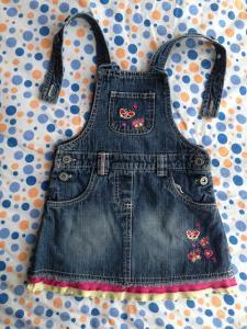 Фото Одежда для девочек, Размер 80 джинсовый сарафан
