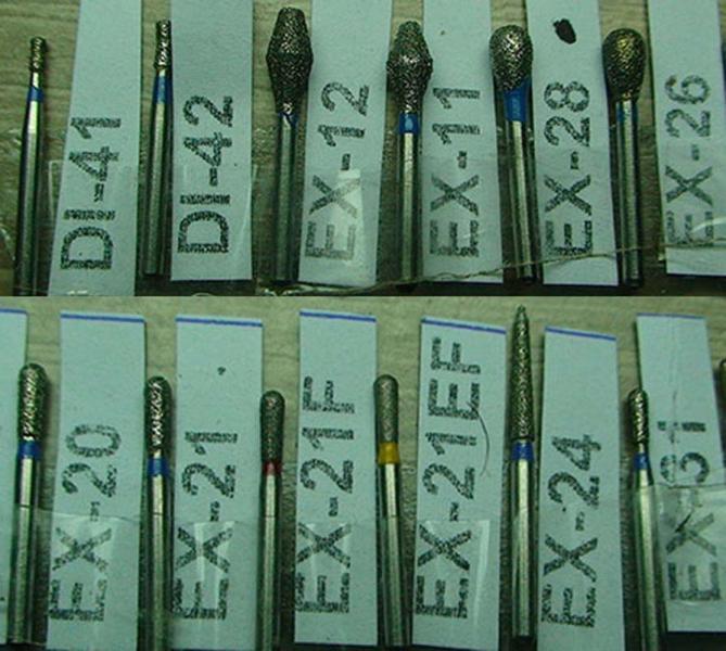 Алмазный бор DI41, DI42, EX12, EX11, EX28, EX26, EX20,, EX21, EX21F, EX24, EX31