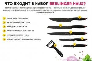 Фото Товары для дома Набор ножей Berlinger Haus